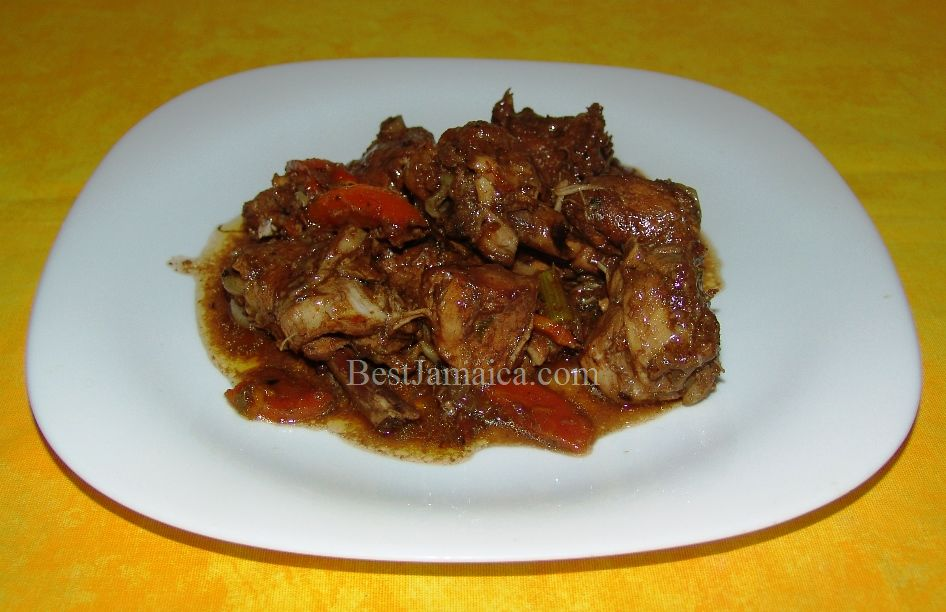 Jamaican Brown Stew Chicken Recipe — Dishmaps